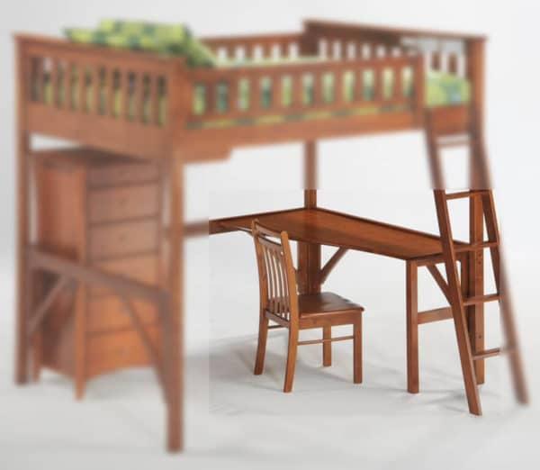ginger high loft study desk detail