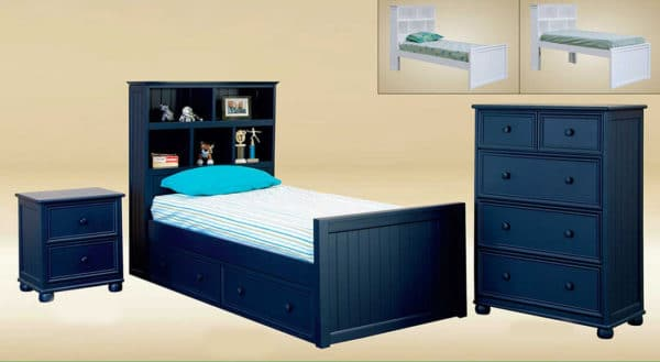 jay furniture bookcase twin with headboard