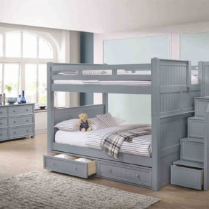 Jay furniture Full Full Bunk Bed with Step Drawers