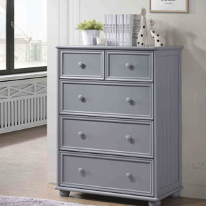 jay furniture 5 drawer chest in grey