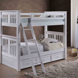 jay furniture boston bunk bed in white