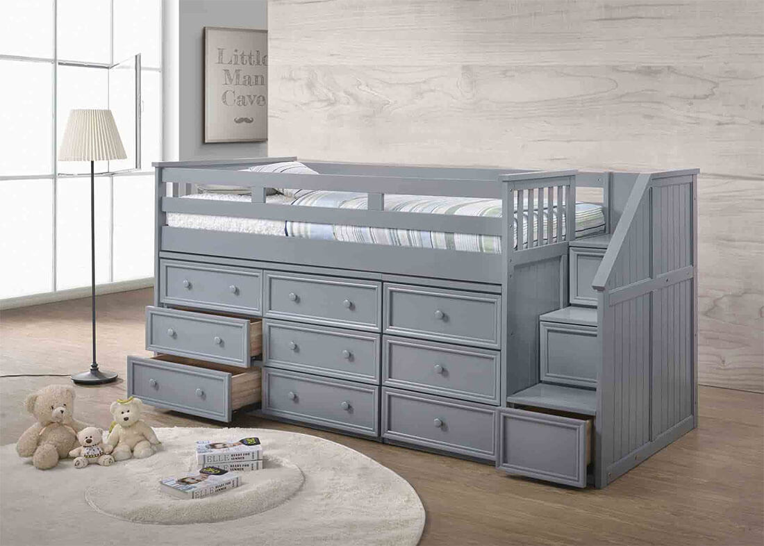 Picture of: Jay Twin Junior Loft Bed With Step Drawers Berkeley Kids Room