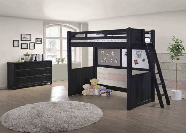 jay twin loft bed with ladder
