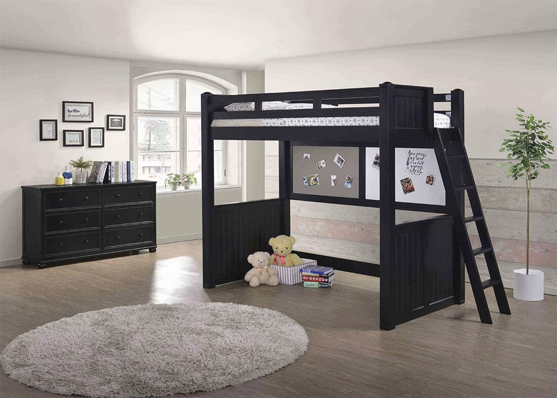 Picture of: Jay Twin Loft Bed With Ladder Berkeley Kids Room