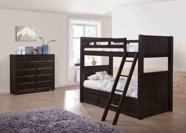 jay furniture twin twin beadboard bunk bed