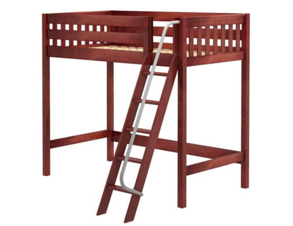 maxtrix high loft bed chestnut finish