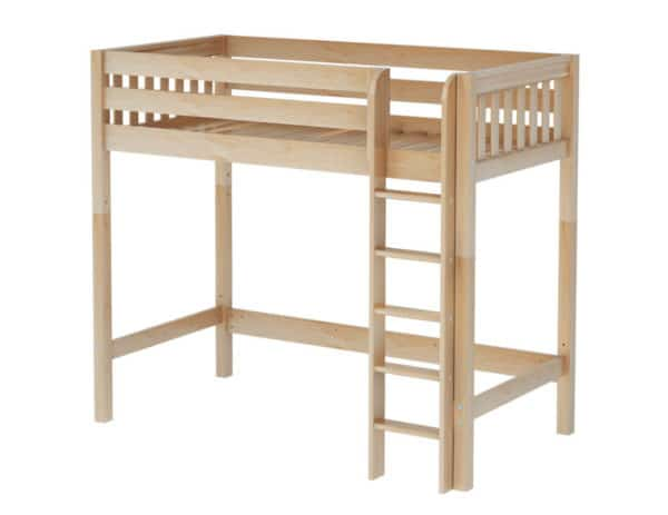maxtrix high loft bed natural finish
