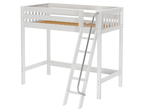 maxtrix high loft bed white finish