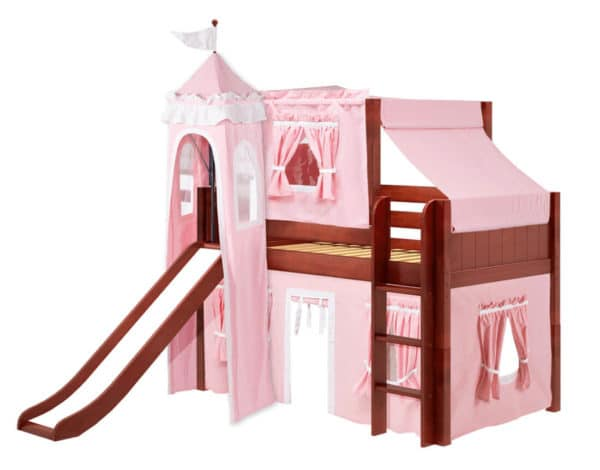 maxtrix princess loft bed in chestnut