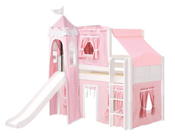 maxtrix princess loft bed in white