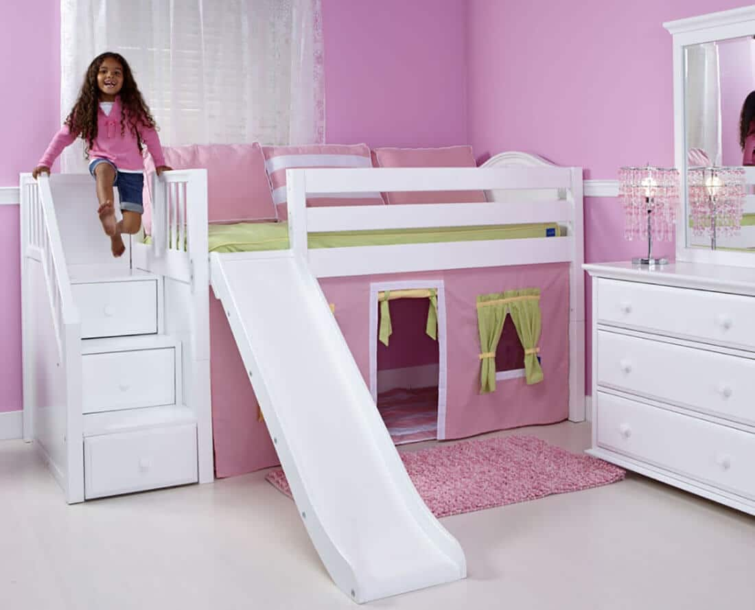 Maxtrix Low Loft Bed with Staircase