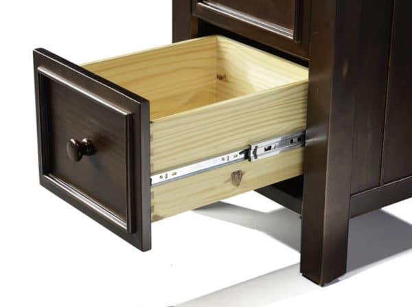 mushroom sherwood 2 drawer nightstand in espresso detail