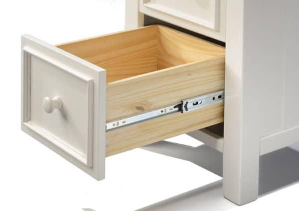 mushroom sherwood 5 drawer chest detail
