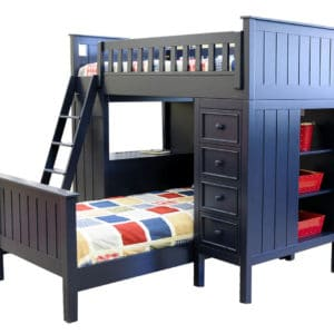 mushroom sherwood loft bed navy blue