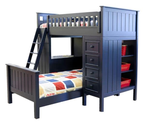 mushroom sherwood loft bed navy blue