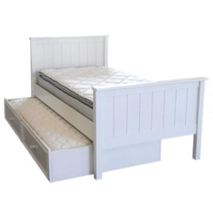 mushroom sherwood twin bed in white