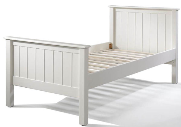 mushroom sherwood twin bed in white