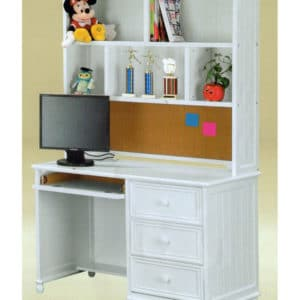 jay furniture student desk and optional hutch in white