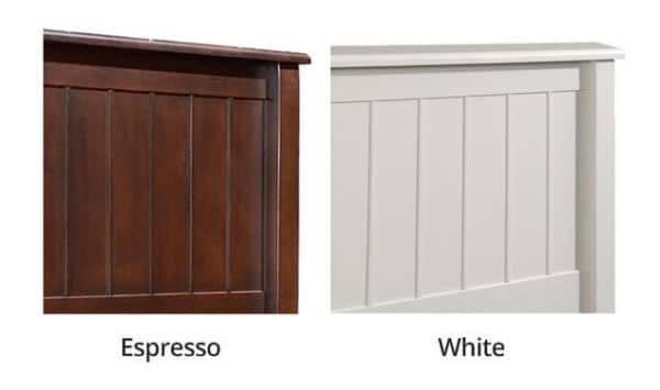 mushroom sherwood espresso and white finishes