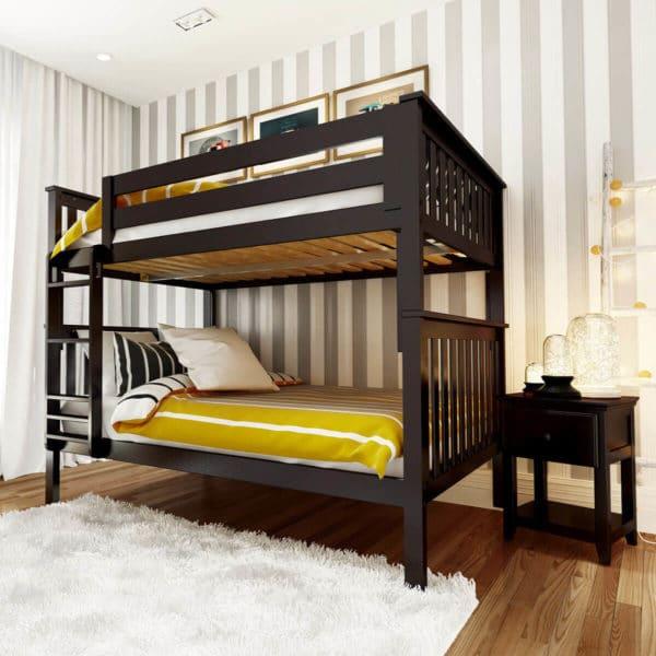 jackpot bristol twin over twin bunk bed espresso