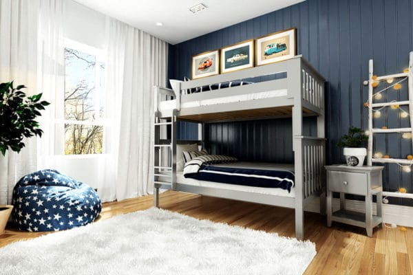 jackpot bristol twin over twin bunk bed grey