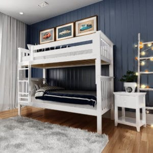 jackpot bristol twin over twin bunk bed white
