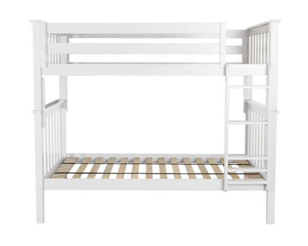 jackpot bristol twin over twin bunk bed white fron angle