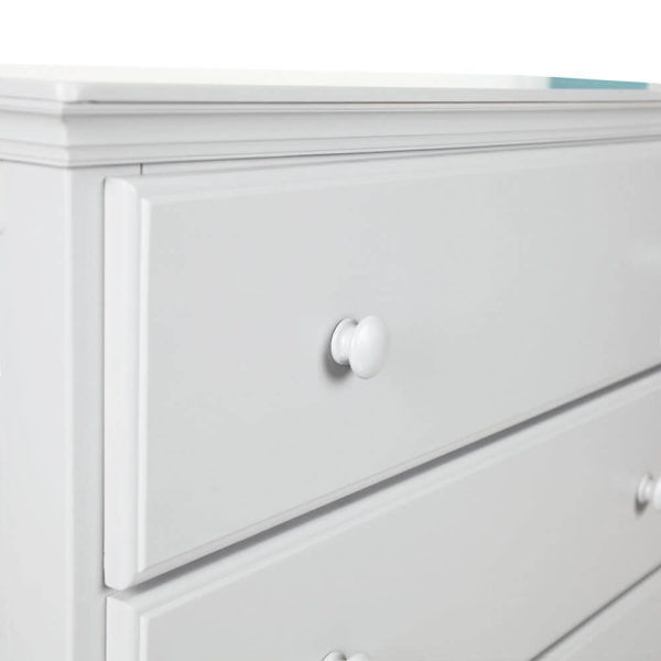 jackpot 6 drawer kids dresser white detail