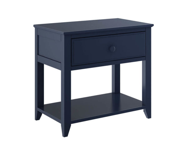 jackpot 1 drawer nightstand navy blue