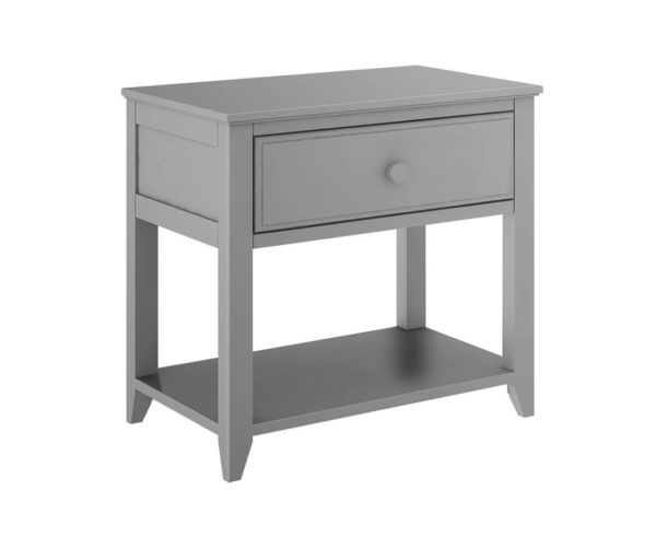 jackpot 1 drawer nightstand grey