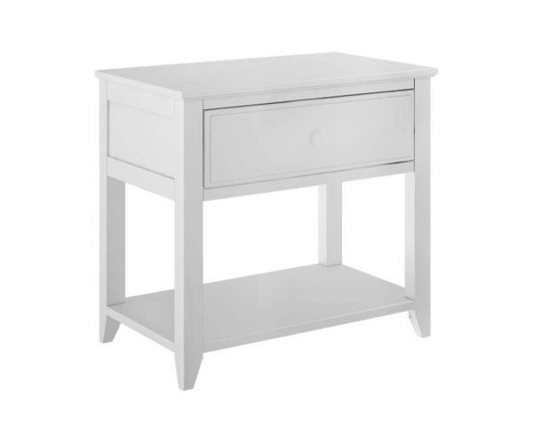 jackpot 1 drawer nightstand white