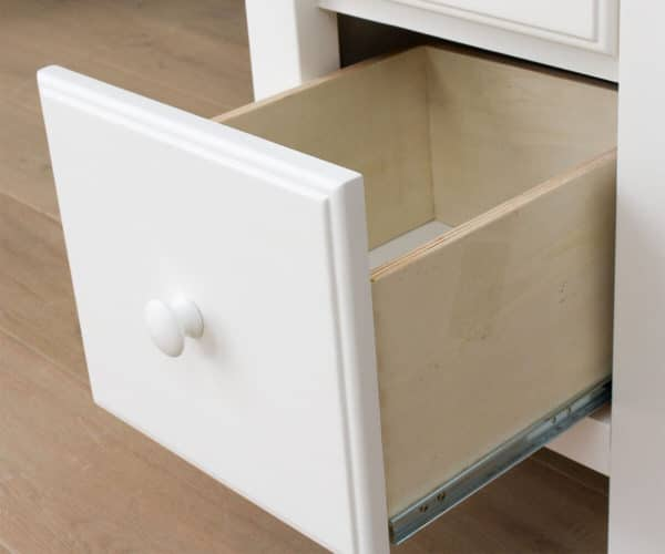 jackpot kensington loft bed twin over twin white drawer detail