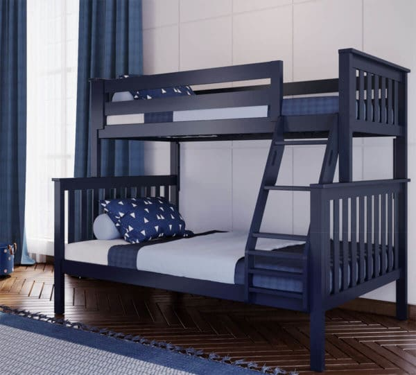 jackpot kent twin over full bunk bed navy blue