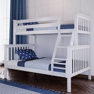 jackpot kent twin over full bunk bed white