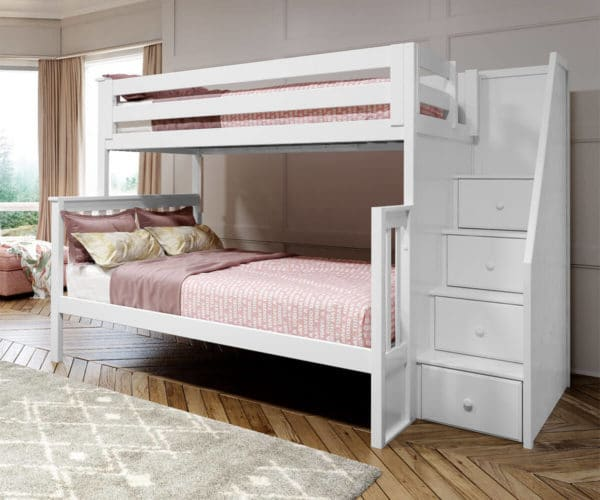 jackpot newcastle twin full bunk bed white