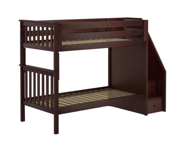 jackpot sunderland twin twin staircase bunk bed navy blue left view