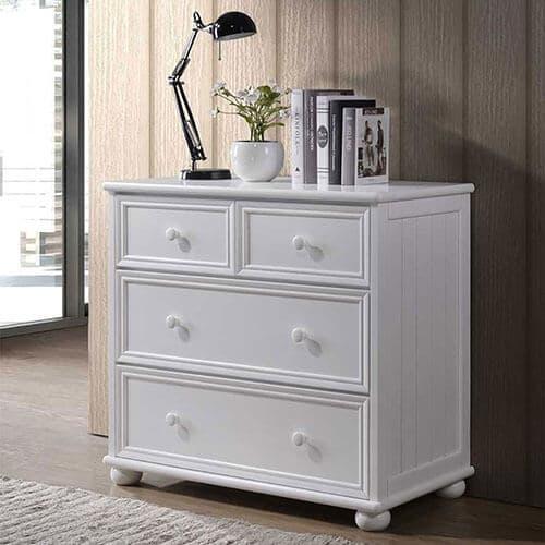 4 drawer dresser white finish