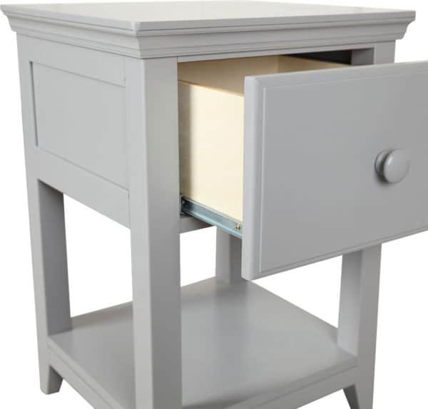 jackpot 1 drawer nightstand grey detail