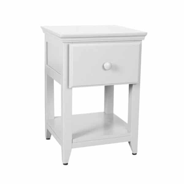 jackpot 1 drawer nightstand white