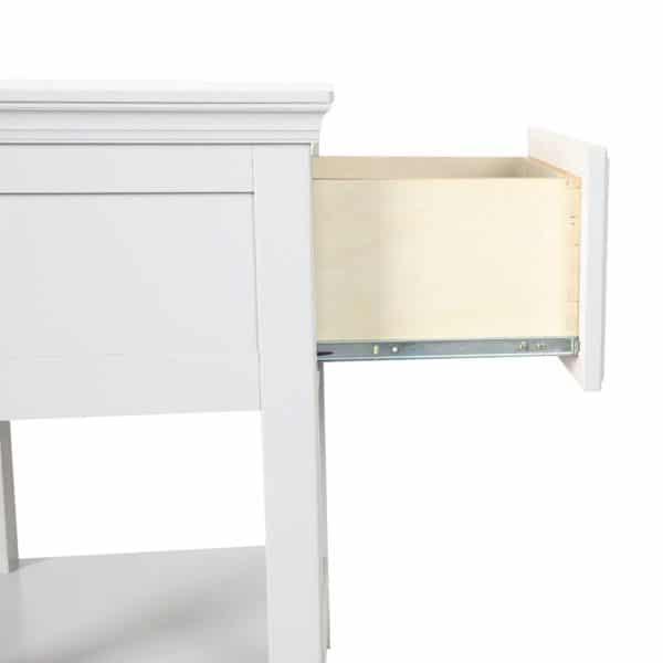 jackpot 1 drawer nightstand white detail