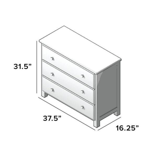jackpot 3 drawer kids dresser dimensions