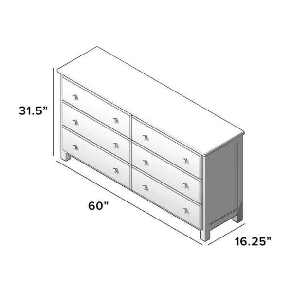 jackpot 6 drawer kids dresser dimensions