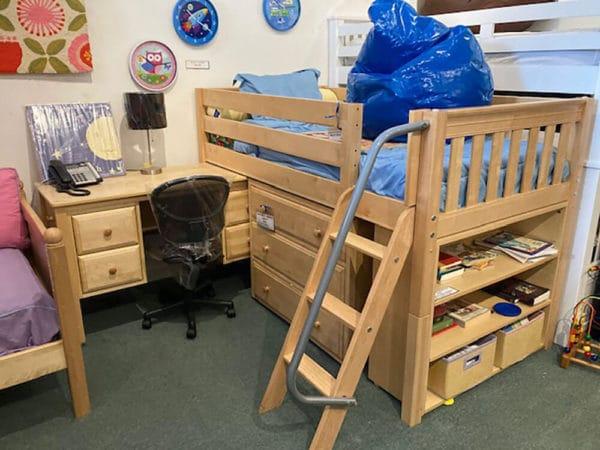 clearance maxtrix low loft bed