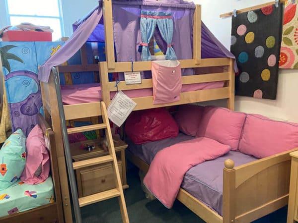 clearance maxtrix l-shaped bunk bed