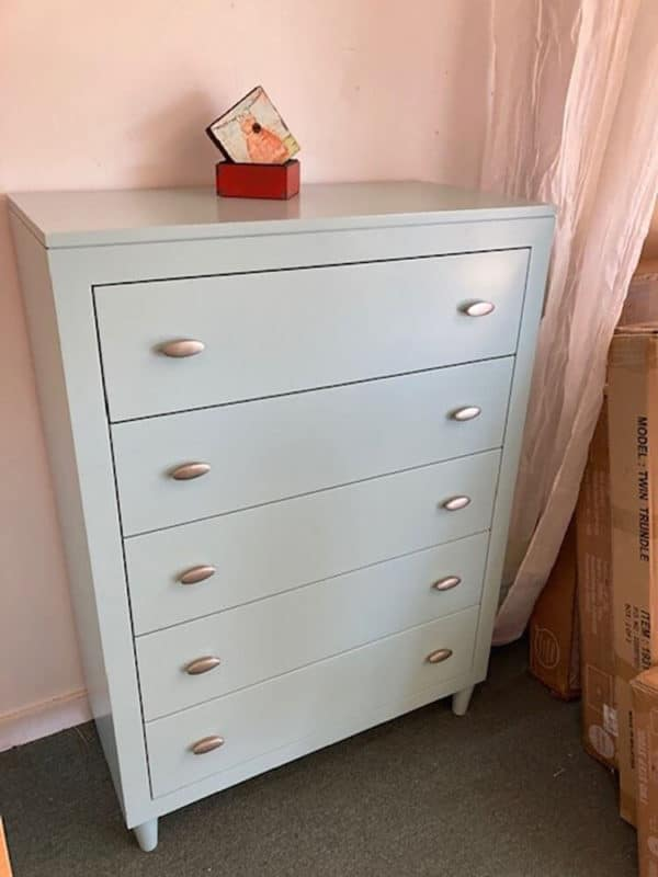 clearance mid-century 5 drawer chest